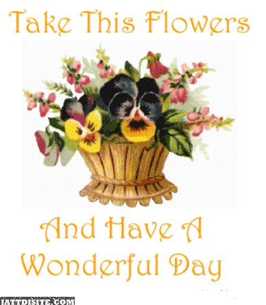 Take This Flowers Have A Woderful Day